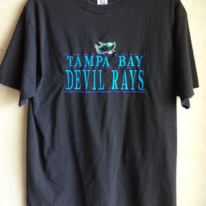 Tampa Bay Devil Rays Shirt Mens XL Baseball Black